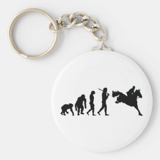 Equestrian Show Jumping riders gift ideas Basic Round Button Key Ring