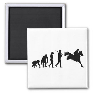 Equestrian Show Jumping riders gift ideas Square Magnet