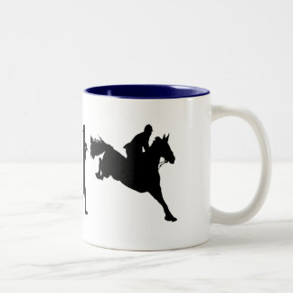 Equestrian Show Jumping riders gift ideas Two-Tone Mug