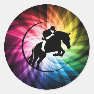 Equestrian Spectrum Classic Round Sticker