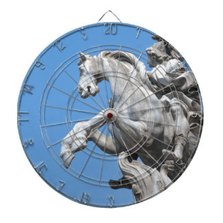 Equestrian statue dartboard