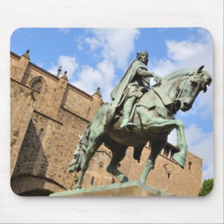 Equestrian statue in Barcelona, Spain Mouse Mat