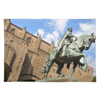 Equestrian statue in Barcelona, Spain Placemat
