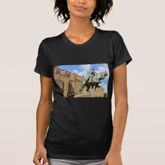 Equestrian statue in Barcelona, Spain T-Shirt
