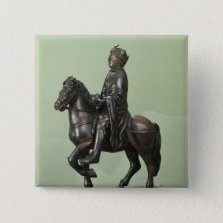 Equestrian statue of Charlemagne 2 15 Cm Square Badge