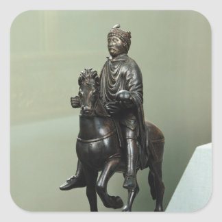 Equestrian statue of Charlemagne Square Sticker