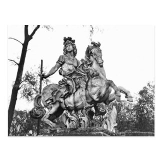 Equestrian statue of Louis XIV Postcard