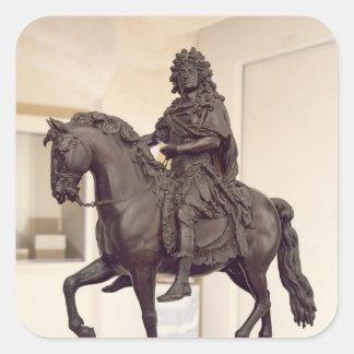Equestrian statue of Louis XIV Square Sticker