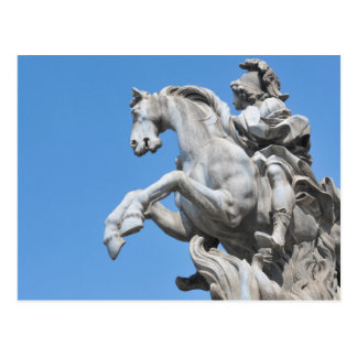Equestrian statue postcard