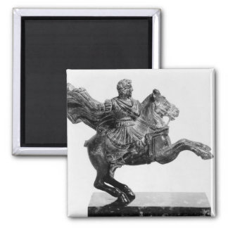 Equestrian statuette of Alexander the Great Square Magnet