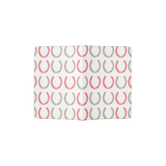 Equestrian Themed Horse Shoes Pattern Passport Holder