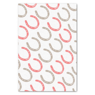 Equestrian Themed Horse Shoes Pattern Tissue Paper