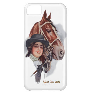Equestrian Woman and Horse- Customize iPhone 5C Cover
