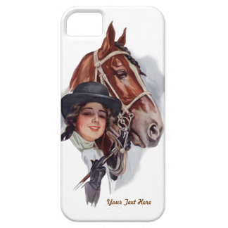 Equestrian Woman and Horse- Customize iPhone 5 Case
