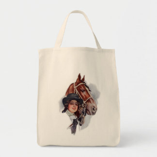 Equestrian Woman Tote Bag
