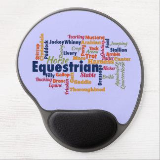 Equestrian Word Cloud Gel Mouse Pad