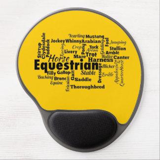 Equestrian Word Cloud Gel Mouse Pads