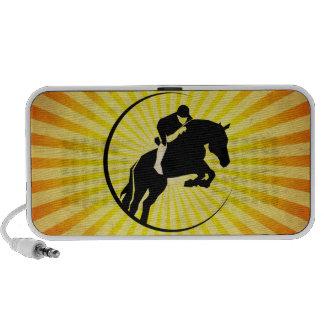 Equestrian yellow notebook speakers