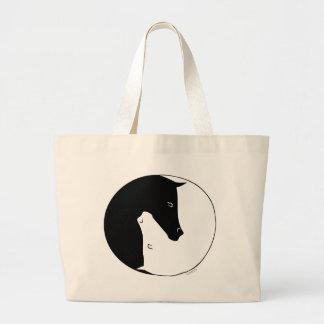 Equestrian Ying Yang Large Tote Bag