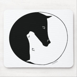 Equestrian Ying Yang Mouse Pads