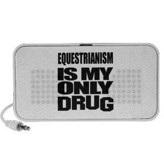EQUESTRIANISM IS MY DRUG NOTEBOOK SPEAKER