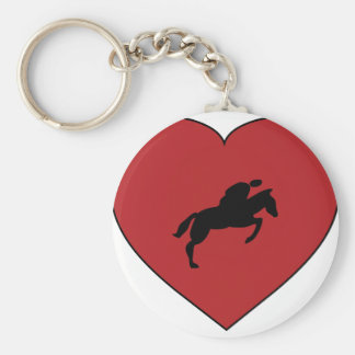 Equestrianism / Riding Basic Round Button Key Ring