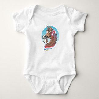 Equi-toons , 'Glory Days ' champion cartoon horse Baby Bodysuit