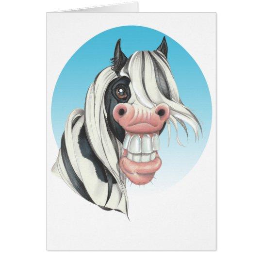 Equi-toons , 'Say Cheese!, Coloured Cob companion Card