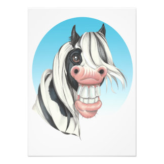 Equi-toons , 'Say Cheese!, Coloured Cob companion Photographic Print