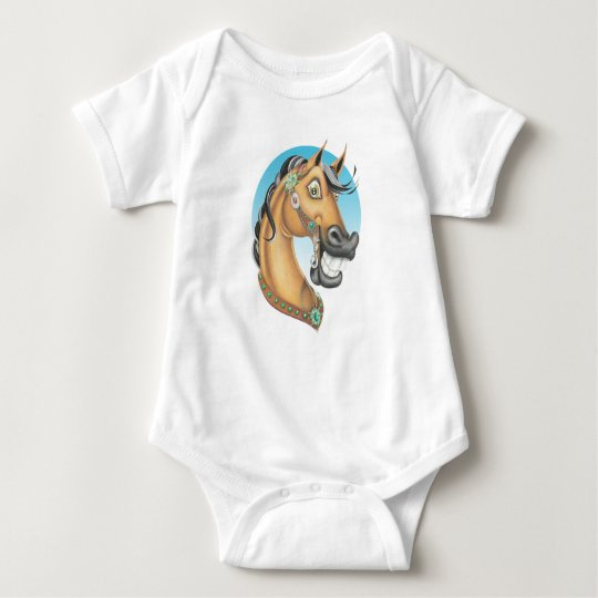 Equi-toons 'Western Showstopper' . Baby Bodysuit