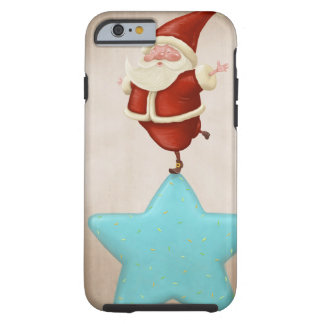 Equilibrist Santa Claus Tough iPhone 6 Case
