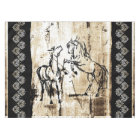Equine Art Rearing Horses Tablecloth