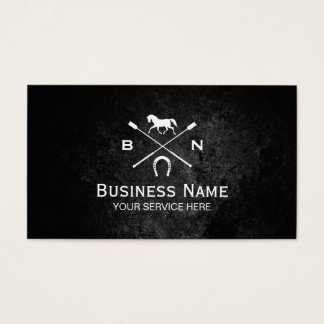 Equine Elegant Horseback Riding Equestrian Business Card