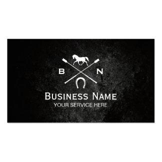 Equine Elegant Horseback Riding Equestrian Pack Of Standard Business Cards