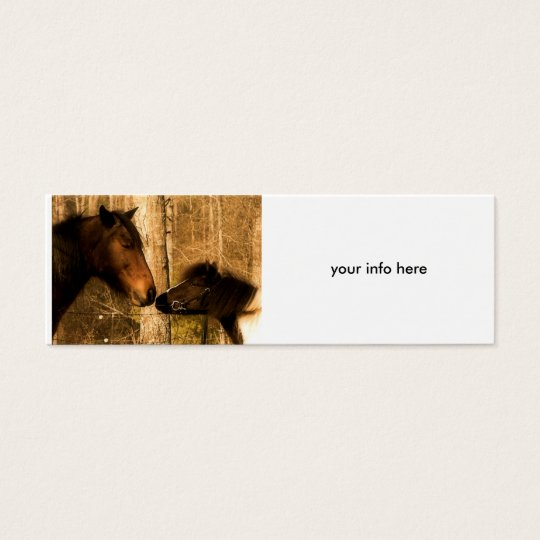 Equine Love Business Card- skinny Mini Business Card