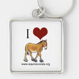 2c139ddfb Equine Voices I Love Gulliver White Keychain