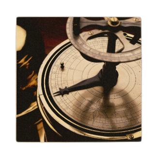Equinoctial Solar Watch | 1880 Maple Wood Coaster