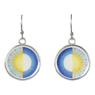 Equinox Sun and Moon Earrings