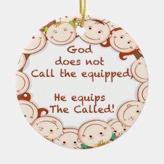Equip The Called! Round Ceramic Decoration