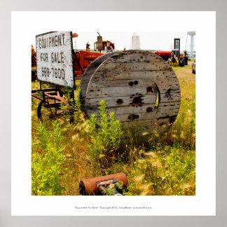 Equipment for Sale junkyard folk art photography Posters