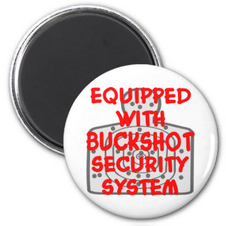 Equipped With Buckshot Security System 6 Cm Round Magnet