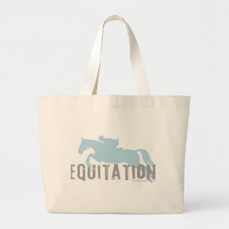 equitation jumbo tote bag