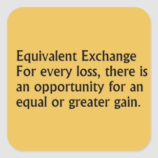 Equivalent Exchange Square Sticker