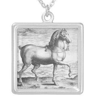 Equus Germanus Silver Plated Necklace