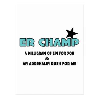 ER Champ Postcard