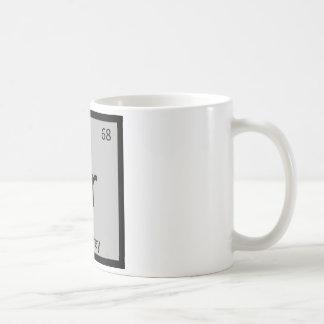 Er - Earl Grey Tea Chemistry Periodic Table Symbol Basic White Mug