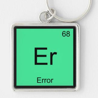Er - Error Funny Chemistry Element Symbol Tee Keychains