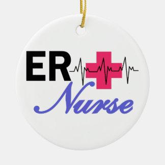 ER Nurse Round Ceramic Decoration
