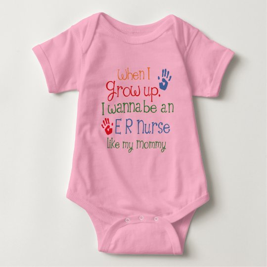 Er Nurse (Future) Like My Mummy Baby Bodysuit