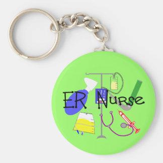 ER Nurse Medical Equipment Design Basic Round Button Key Ring